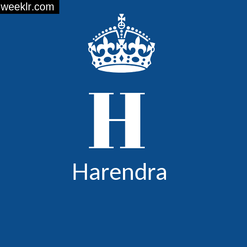Make -Harendra- Name DP Logo Photo