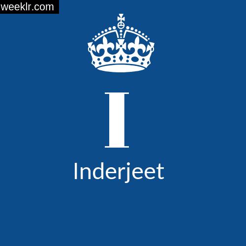 Make Inderjeet Name DP Logo Photo