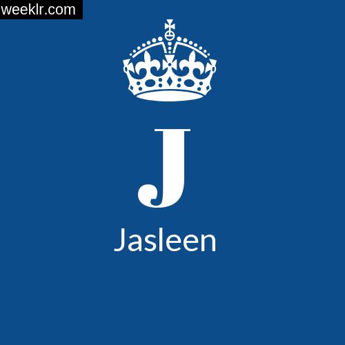Make Jasleen Name DP Logo Photo