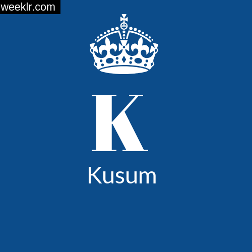 Make -Kusum- Name DP Logo Photo