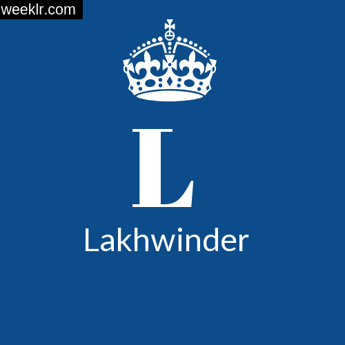 Make -Lakhwinder- Name DP Logo Photo