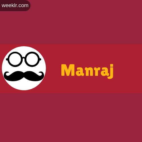 Moustache Men Boys Manraj Name Logo images