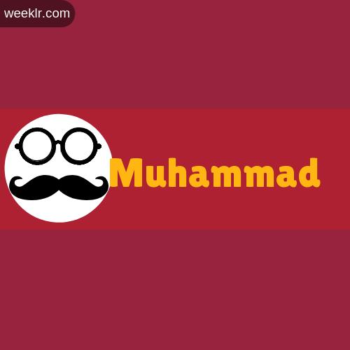 Moustache Men Boys Muhammad Name Logo images