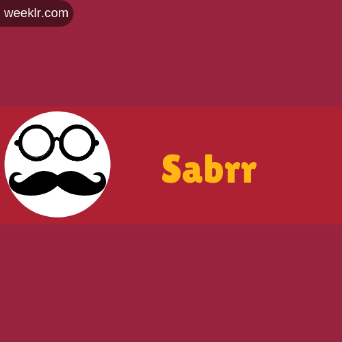 Moustache Men Boys Sabrr Name Logo images