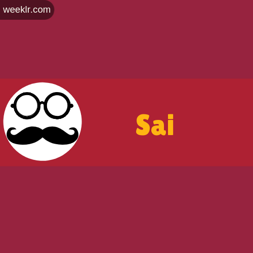 Moustache Men Boys Sai Name Logo images