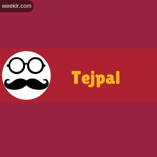Moustache Men Boys Tejpal Name Logo images