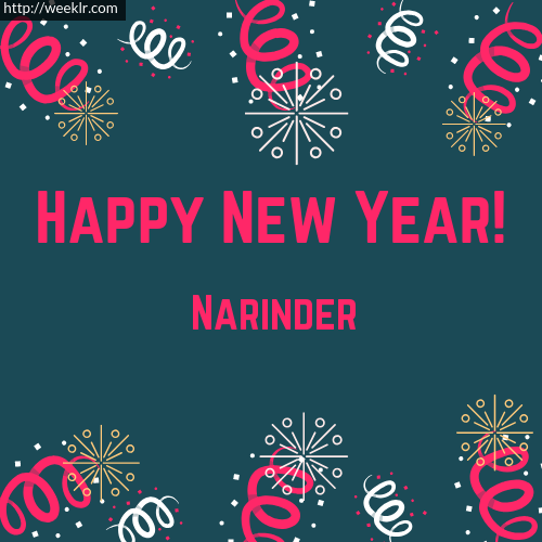 Narinder Happy New Year Greeting Card Images