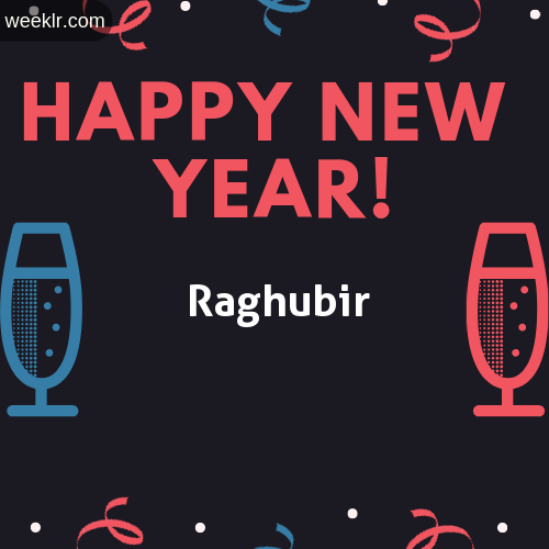 -Raghubir- Name on Happy New Year Image