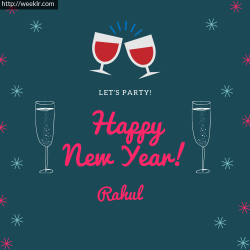 -Rahul- Happy New Year Name Greeting Photo