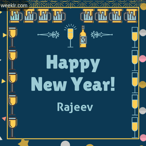 -Rajeev- Name On Happy New Year Images