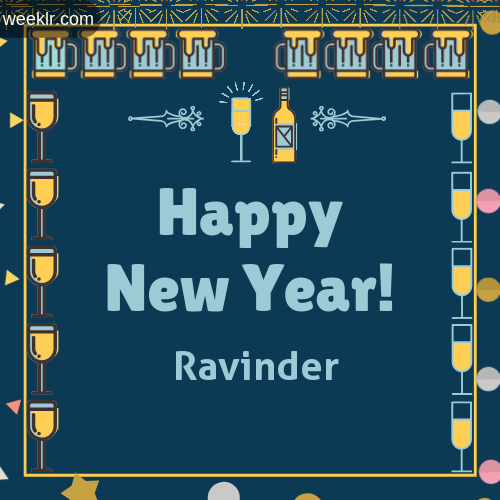-Ravinder- Name On Happy New Year Images