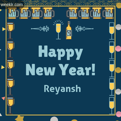 Reyansh   Name On Happy New Year Images