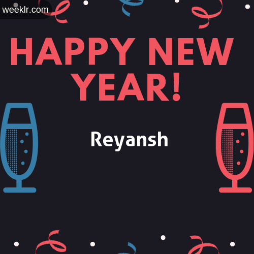 Reyansh Name on Happy New Year Image