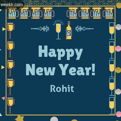 -Rohit- Name On Happy New Year Images