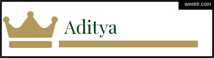 Royals Crown Aditya Name Logo Photo