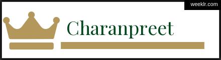 Royals Crown Charanpreet Name Logo Photo