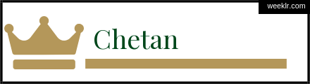 Royals Crown -Chetan- Name Logo Photo