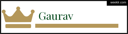 Royals Crown -Gaurav- Name Logo Photo