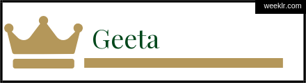 Royals Crown -Geeta- Name Logo Photo