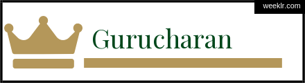Royals Crown -Gurucharan- Name Logo Photo