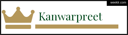 Royals Crown -Kanwarpreet- Name Logo Photo