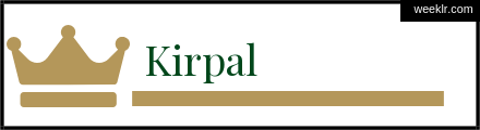 Royals Crown -Kirpal- Name Logo Photo
