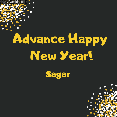 -Sagar- Advance Happy New Year to You Greeting Image