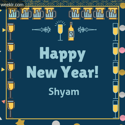 -Shyam- Name On Happy New Year Images