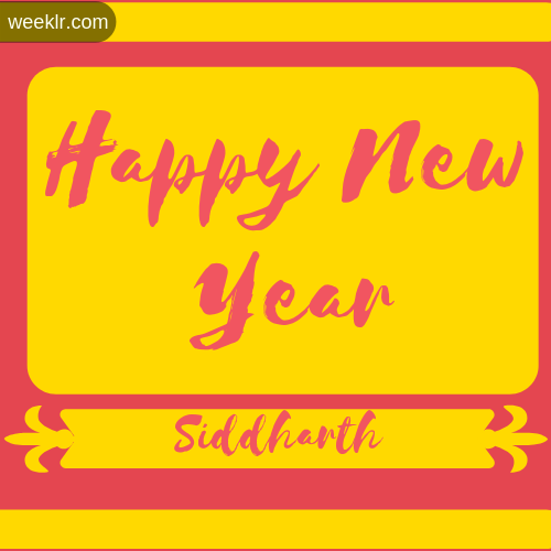 Siddharth Name New Year Wallpaper Photo