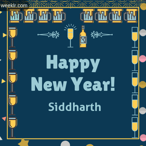 -Siddharth- Name On Happy New Year Images