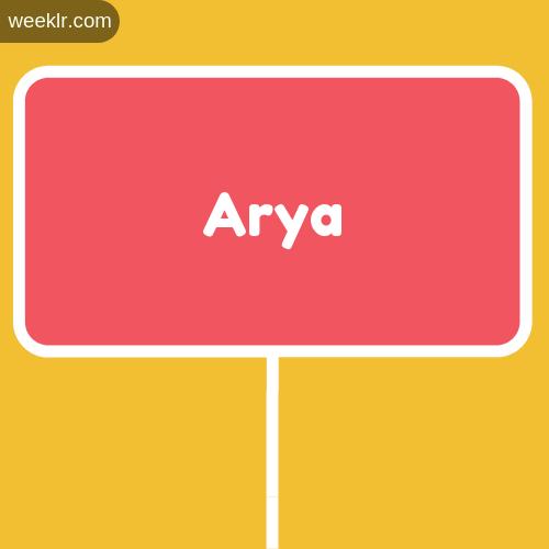 Sign Board Arya Logo Image