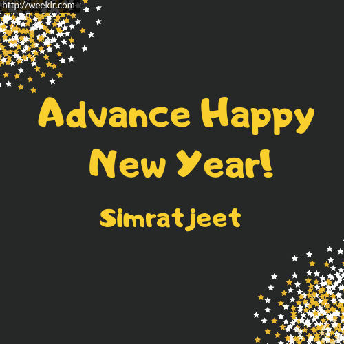 -Simratjeet- Advance Happy New Year to You Greeting Image