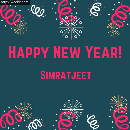 Simratjeet Happy New Year Greeting Card Images