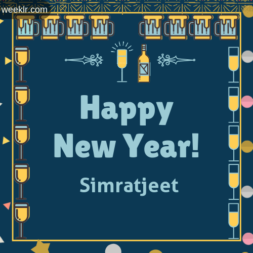 -Simratjeet- Name On Happy New Year Images