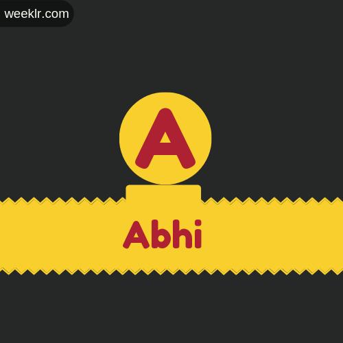 Stylish -Abhi- Logo Images