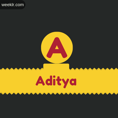 Stylish -Aditya- Logo Images