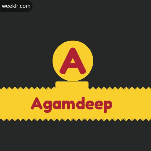 Stylish -Agamdeep- Logo Images