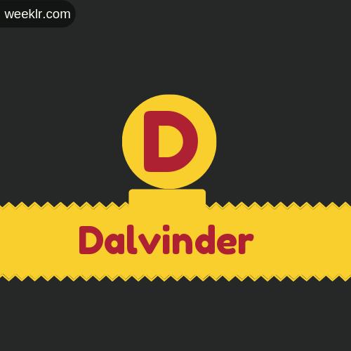 Stylish -Dalvinder- Logo Images