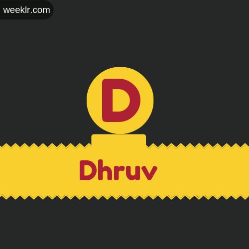 Stylish -Dhruv- Logo Images
