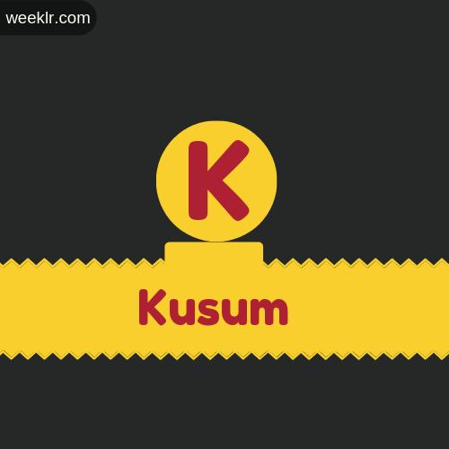 Stylish -Kusum- Logo Images