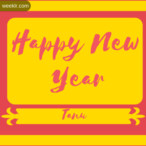 -Tanu- Name New Year Wallpaper Photo