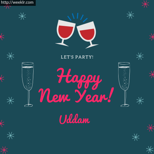 -Uddam- Happy New Year Name Greeting Photo