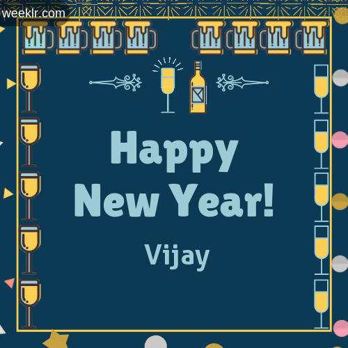 -Vijay- Name On Happy New Year Images