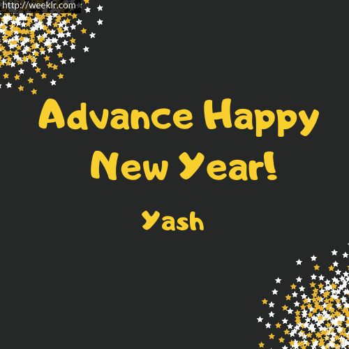 -Yash- Advance Happy New Year to You Greeting Image