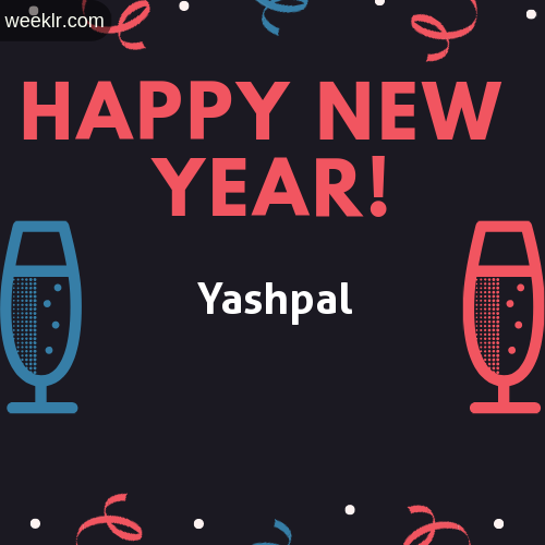 -Yashpal- Name on Happy New Year Image
