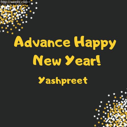 -Yashpreet- Advance Happy New Year to You Greeting Image