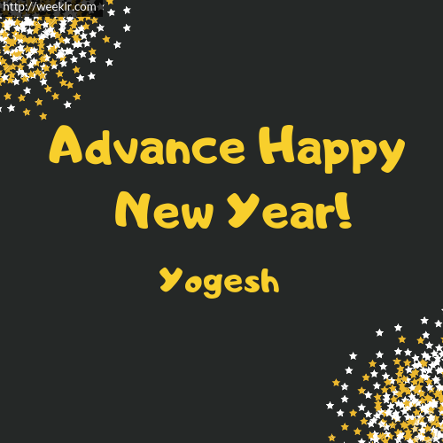 Yogesh Advance Happy New Year to You Greeting Image