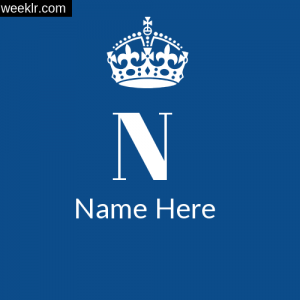 Crown Name 1st Letter DP Logo Maker Online