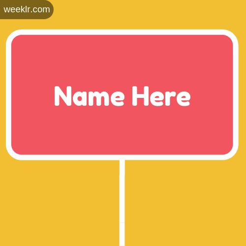 Sign Board Name Logo Maker - Write Name on Sign Board