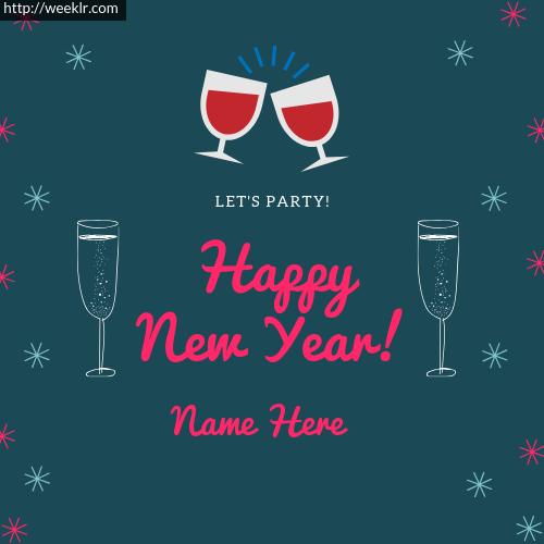 write name on Happy New Year Name Photo Card